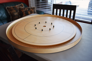 The World Famous - Tournament Crokinole Board Game Set (Meets NCA Standards)