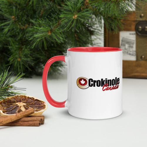Crokinole Canada Mug with Color Inside