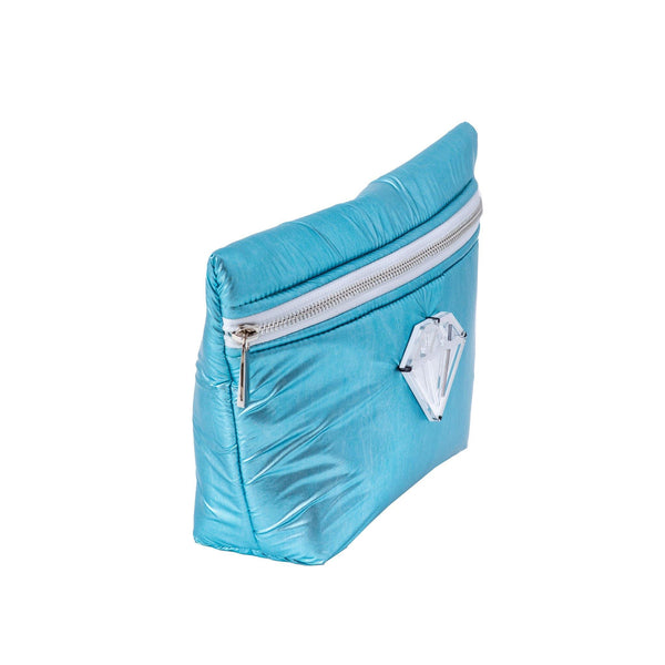 Alexa Pouch | Teal Pillow Diamond