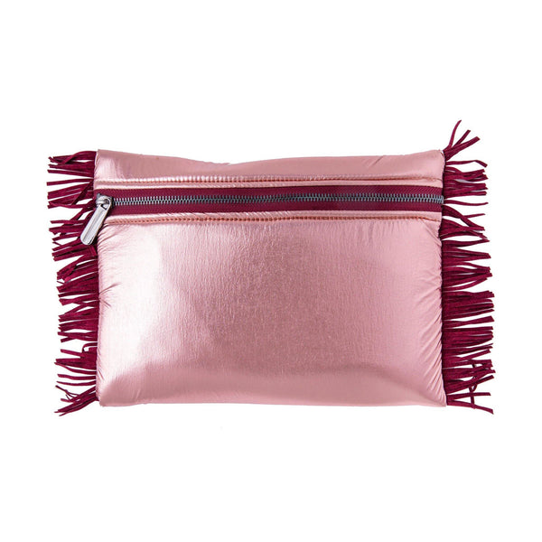 Aliki Pochette | Rose Gold Pillow Fringe
