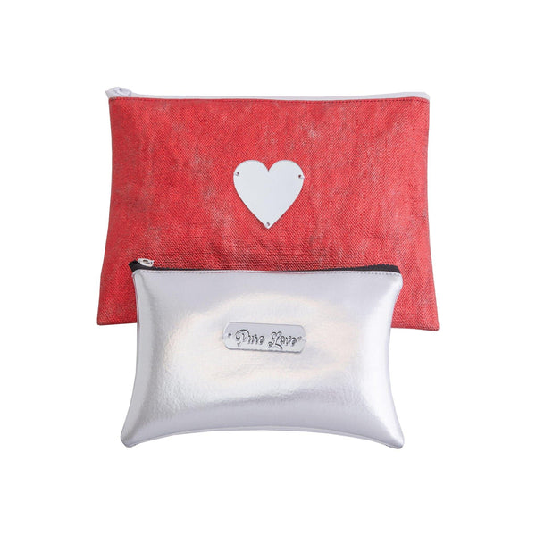 All Day Pouch Set | Silver Heart & Pure Love