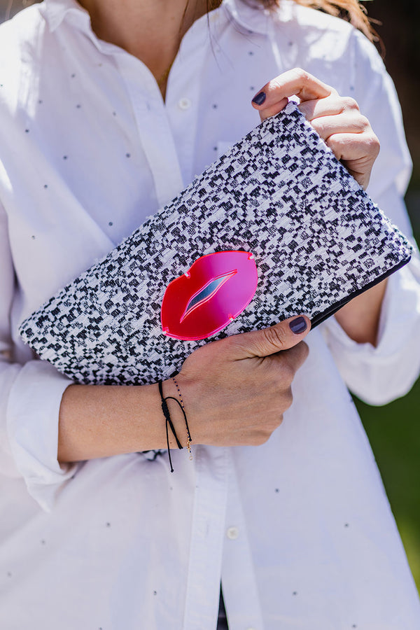 CLUTCH EVENING COLLECTION 2021 pink lips- KOKU CONCEPT