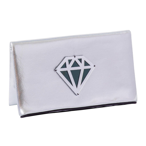 Amara Clutch | Silver Disco Diamond