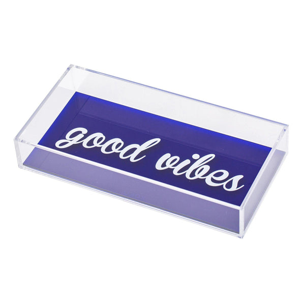 "ANESA Tray ""GOOD VIBES Blue"""