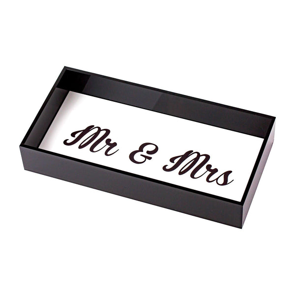 "ANESA Tray ""Mr & Mrs"""