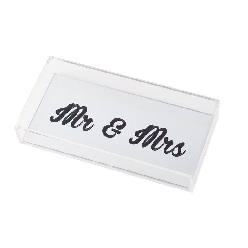 "ANESA Tray ""Mr & Mrs Silver"""