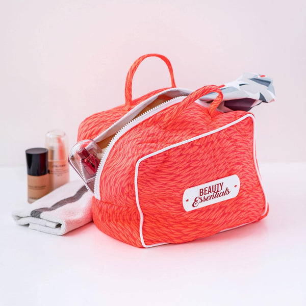 coral beauty essentials bag waterproof travel