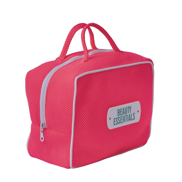 pink beauty essentials bag waterproof travel