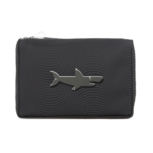BLAZE Pouch | Black Scuba Wave Shark
