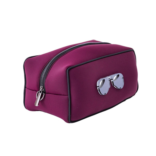 Boo Toiletry bag | Burgundy Scuba Glasses
