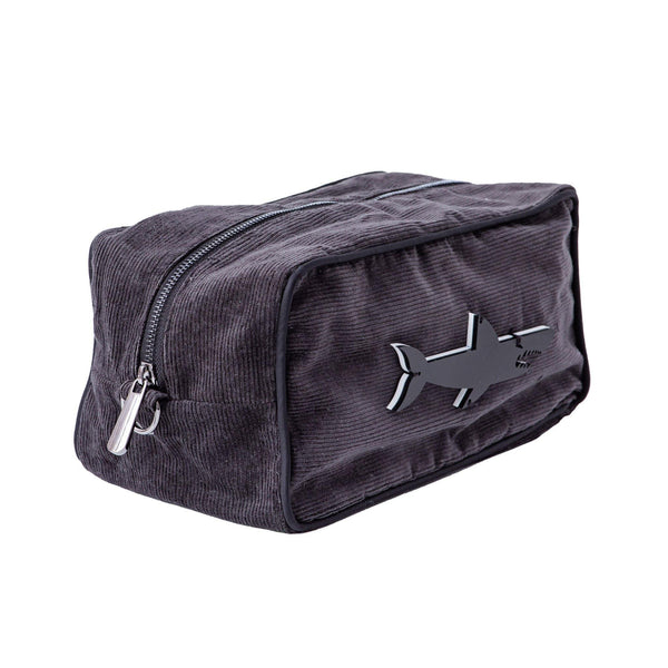 Boo Toiletry bag  | Dark Grey Corduroy Shark