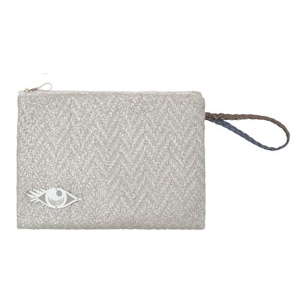 waterproof pouch silver spring summer collection 2021 acrylic evil eye -KOKU CONCEPT