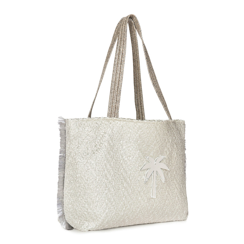 silver tote bag waterproof spring summer collection 2021 acrylic motif-KOKU CONCEPT
