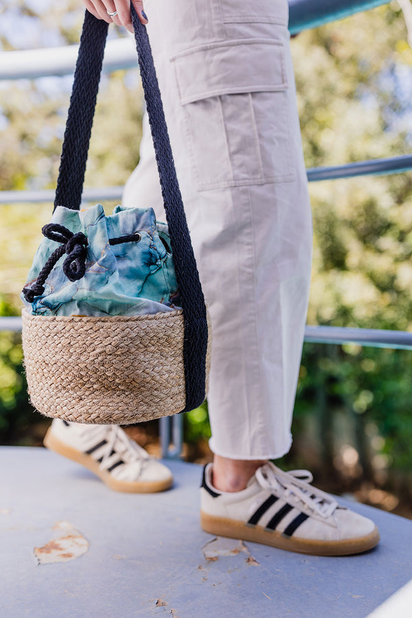 straw bucket bag spring summer collection 2021 -KOKU CONCEPT