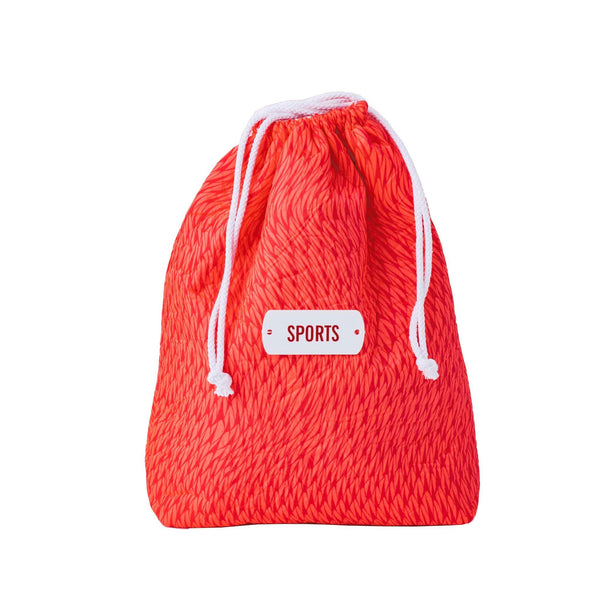 coral fluo drawstring storage pouch sports kids
