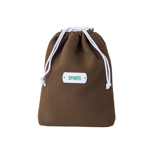 khaki drawstring storage pouch sports kids