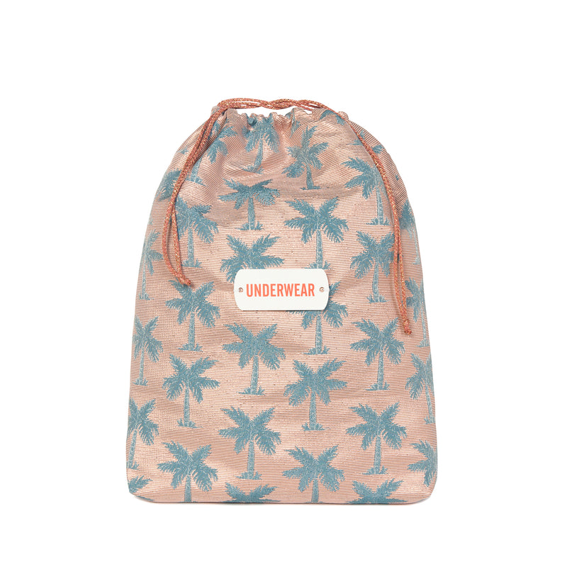 M006 | Didi Teal Palm Printed Tag