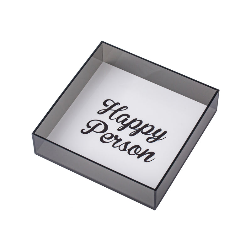 Dorete Tray Happy Person Black Koku Concept plexiglas