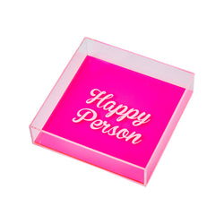 DORETE Tray | Happy Person Pink