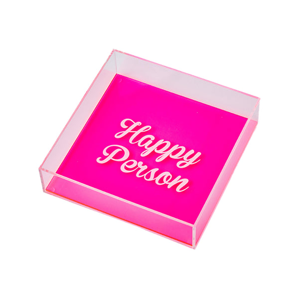 "DORETE Tray ""Happy Person Pink"""