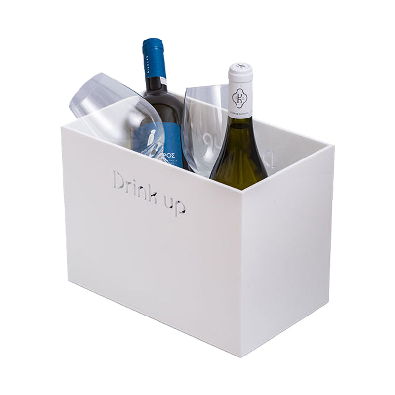 Drunk Wine Cooler Drink Up white KOKU Concept plexiglas