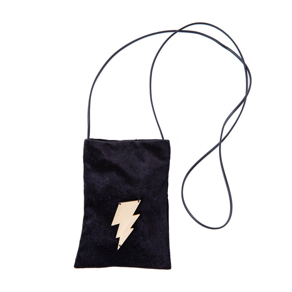 Ev Mobile Pouch | Black Velvet Lightning