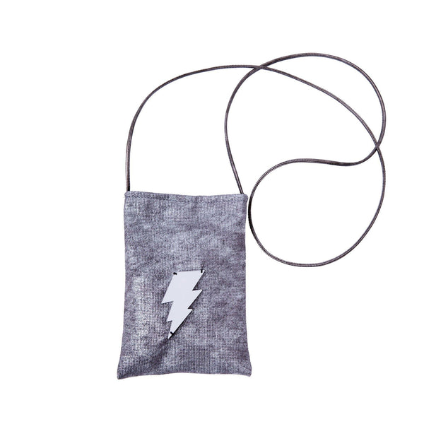Ev Mobile Pouch | Silver Wash Lightning