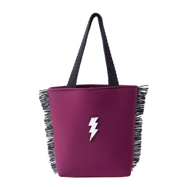 Fay Tote bag small | Burgundy Scuba Lightning