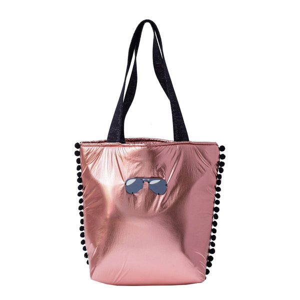 Fay Tote bag small  | Rose Gold Pillow Glasses