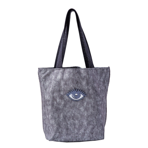 Fay Tote bag small  | Silver Wash Evil Eye