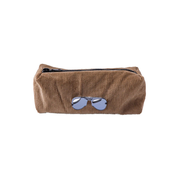 Jazz Pouch | Mocha Corduroy Glasses