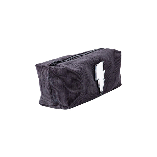 Jazz Pouch | Dark Grey Corduroy Lightning