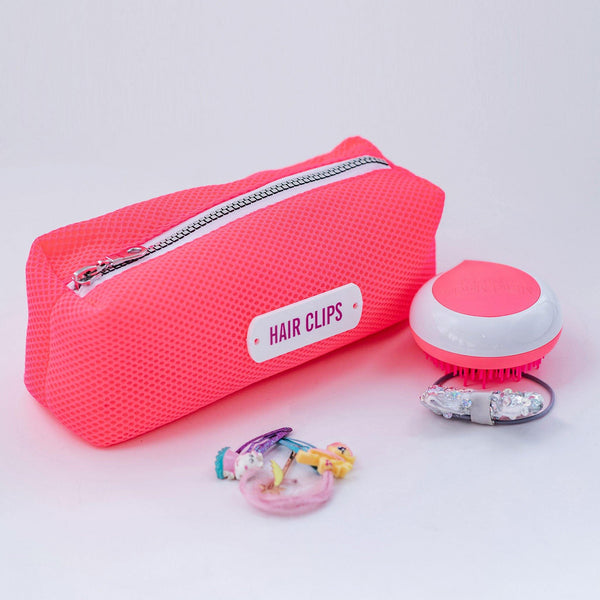 pink hair clips pouch waterproof