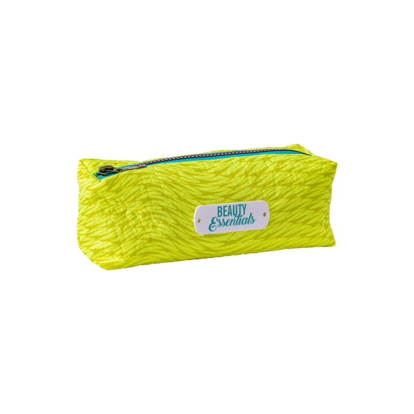 yellow fluo beauty essentials waterproof pouch