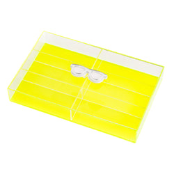 LASH Box Glasses Yellow Fluo KOKU Concept plexiglas