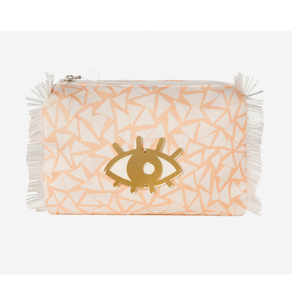 Melissa SUSTAIN | Peach Triangles Evil Eye