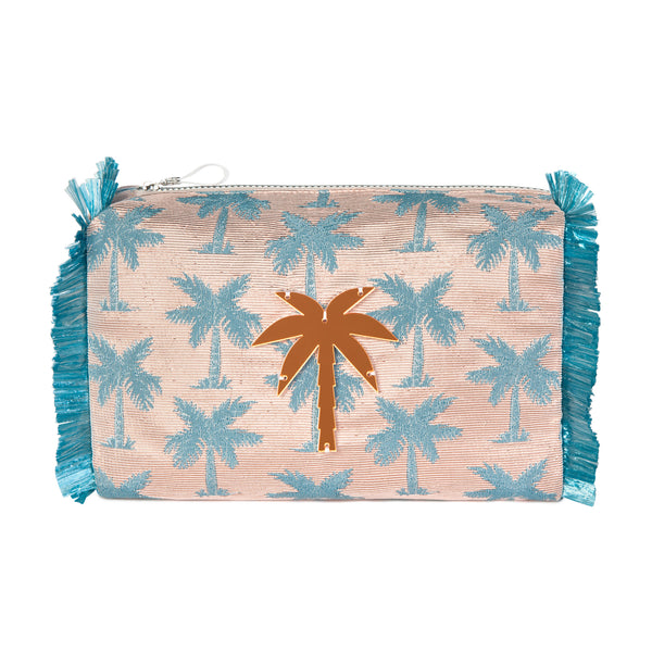 PALM TREES POUCH WATERPROOF COLLECTION SS21 ACRYLIC-KOKU CONCEPT