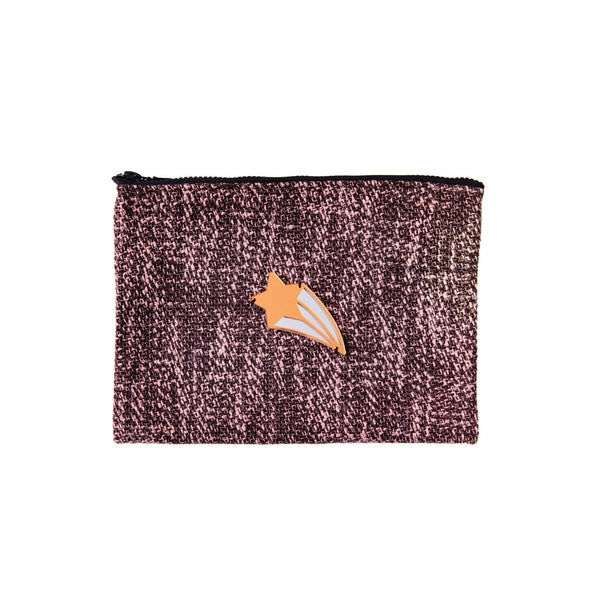 Mia Pochette | Brown Pink Woven Shooting Star