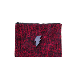 Mia Pochette | Red Black Woven Lightning