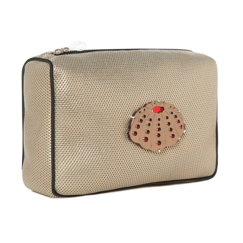 OLIVIA Pouch | Metal Bubbles Sea Urchin