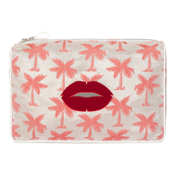 palm trees & lips waterproof pouch spring summer collection 2021 -KOKU CONCEPT