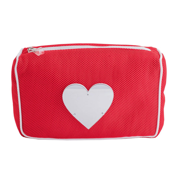 Olivia | All-purpose Pouch Silver Heart - KOKU Concept