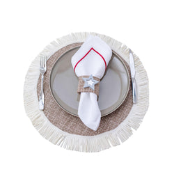 FABRIC PLACEMATS FRINGE