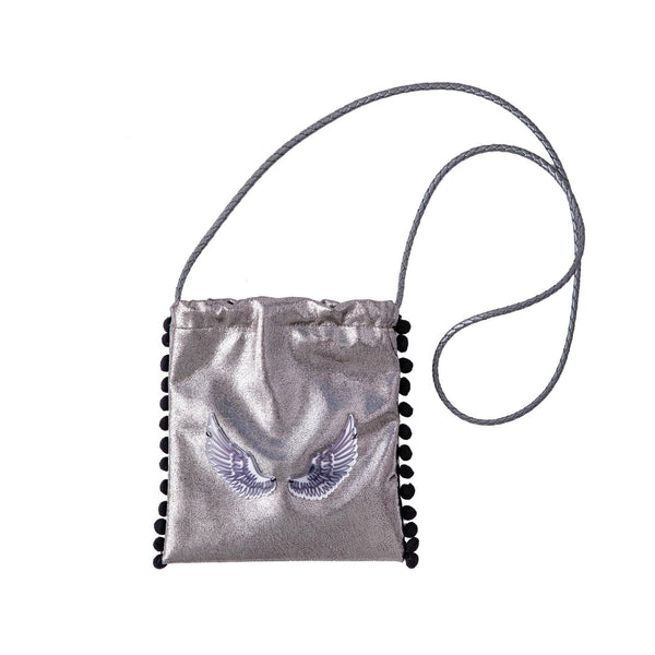 Sandy Cross body bag | Silver Cracked Wings