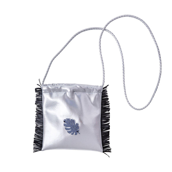 Sandy Cross body bag | Silver Disco Tropical Leaf