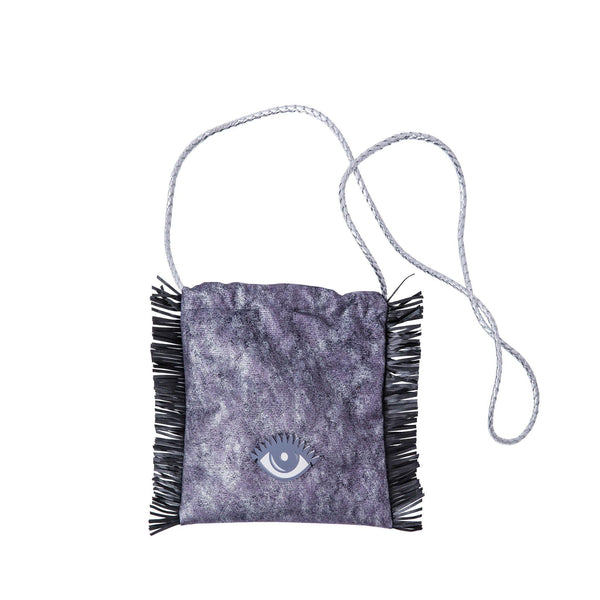 Sandy Cross body bag | Silver Purple Wash Evil Eye