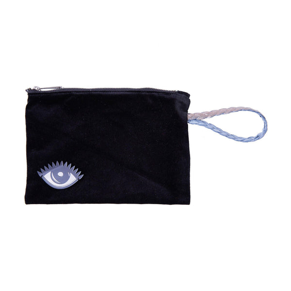 Stella All Day Pouch | Black Velvet Evil Eye