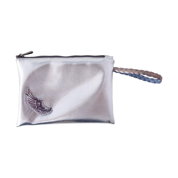 Stella All Day Pouch | Silver Disco Wing