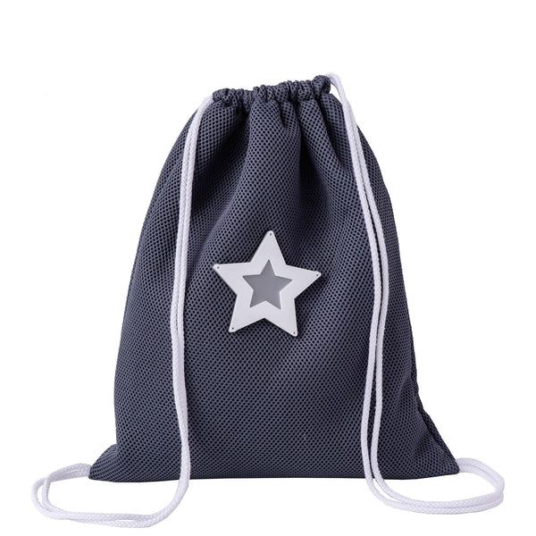 grey drawstring backpack waterproof