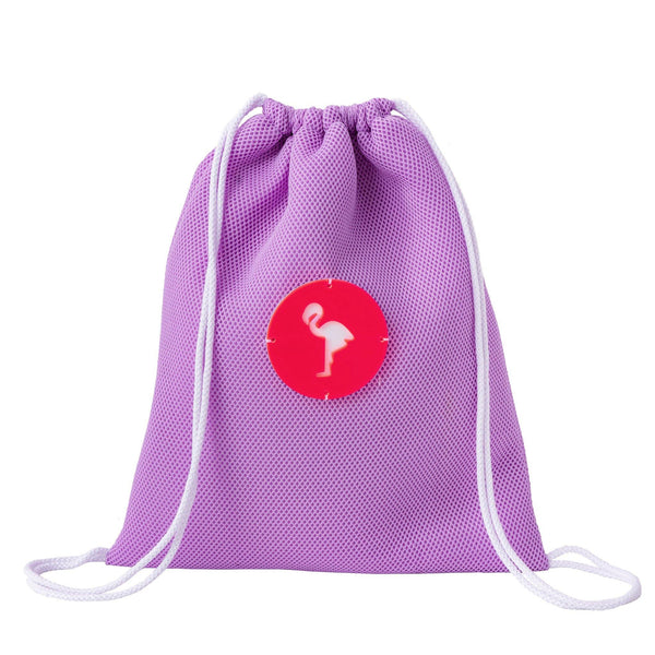 lilac drawstring backpack waterproof kids